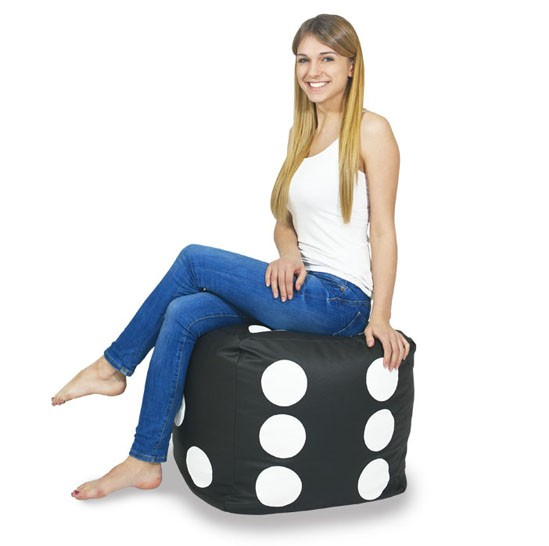Cool Details About Bean Bag Chair Footstool Cubo Dice With Beans Filled Home Living Room Office Evergreenethics Interior Chair Design Evergreenethicsorg
